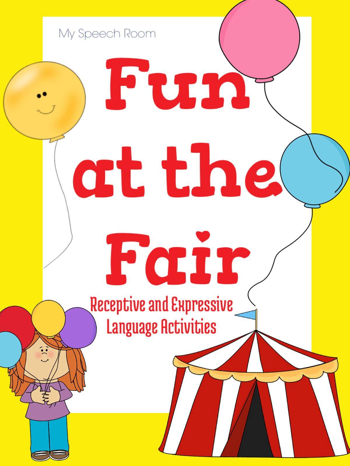 Fun At The Fair Speech And Language Activities For A Carnival Fair Theme