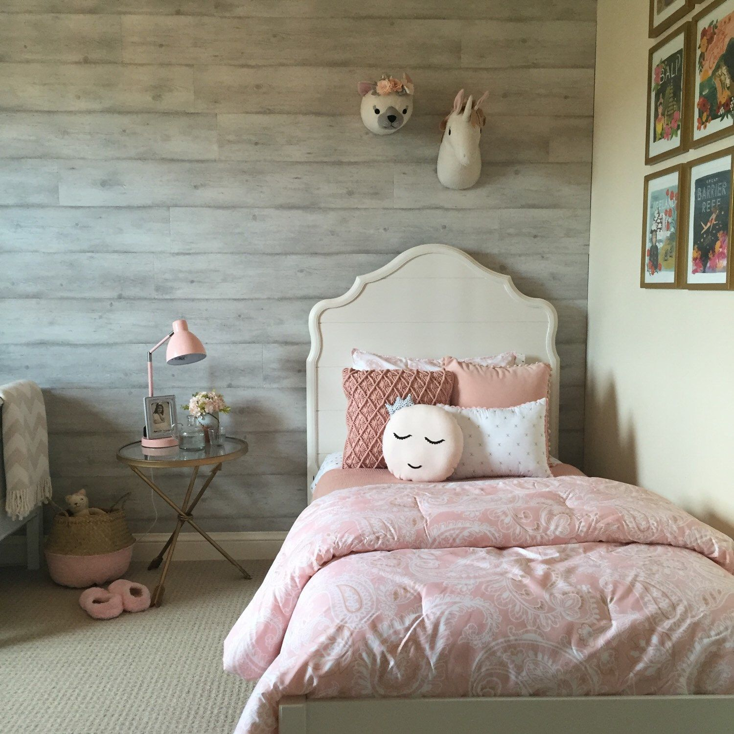 Beautiful Rooms Hold Beautiful Dreams! Love This Little Girls Room Decor.  Everything Is So