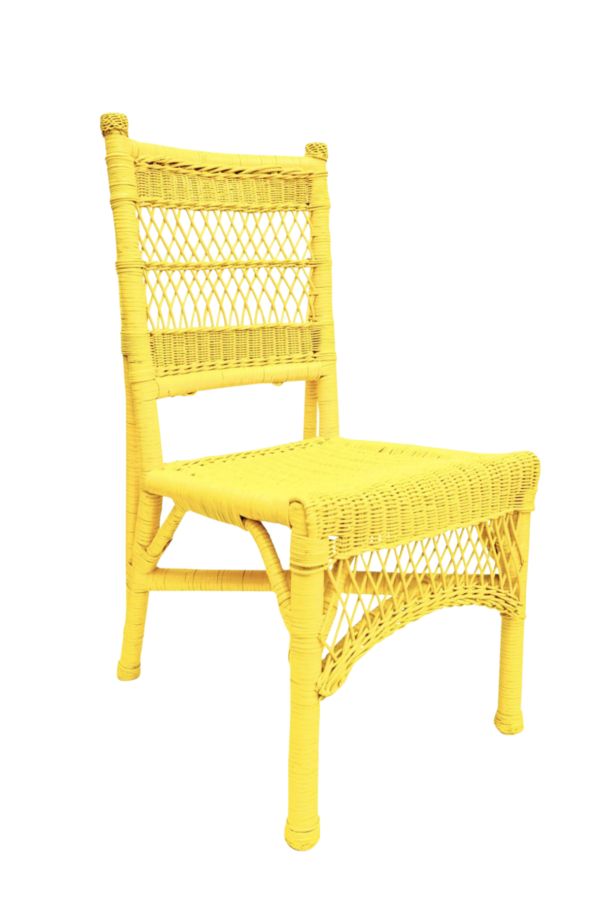 Vintage Henry Link Yellow Rattan Wicker Chair Chair Cheap