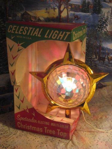 Vintage-BRADFORD-Celestial-Star-Motion-Light-Christmas-Tree- - Vintage-BRADFORD-Celestial-Star-Motion-Light-Christmas-Tree-Topper