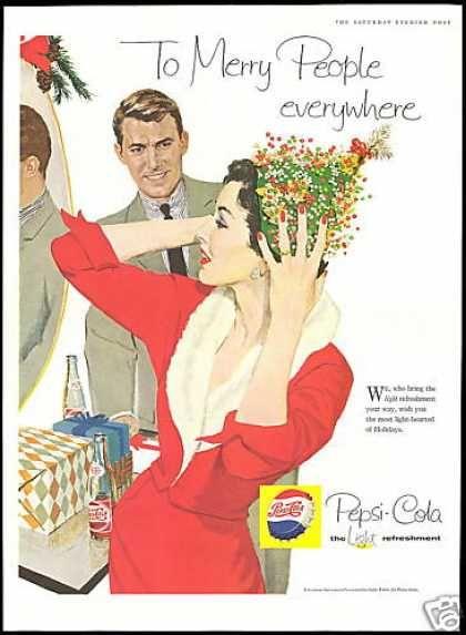 88257cfe98c7b Pepsi Cola Red Dress Christmas Hat (1958)