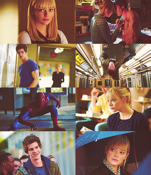 Emma Stone and Andrew Garfield. Emdrew Stonefield ♥  TASM = Peter Parker and Gwen Stacy *credits to owner