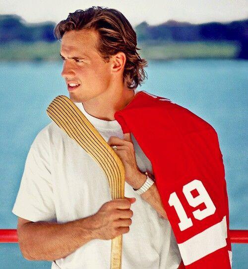 Steve Yzerman Detroit Red Wings Hockey Hair Red Wings Hockey Hot Hockey Players