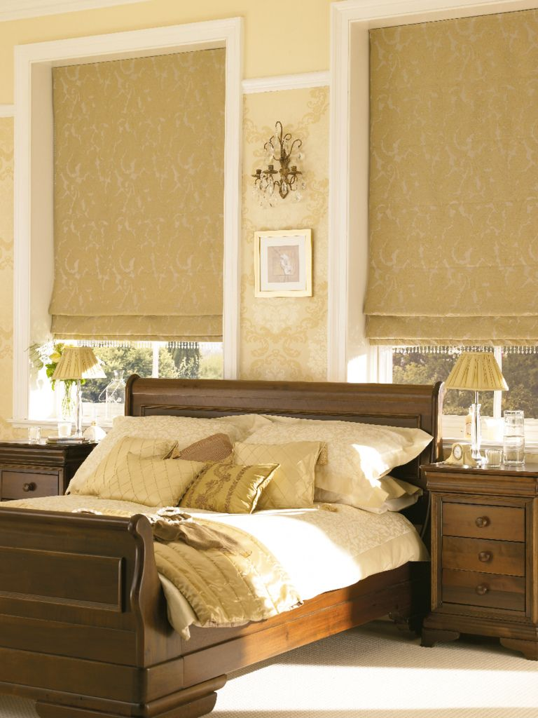 Catalan Gold Roman Blinds For Your Bedroom From Hillarys Find - Bedroom blinds