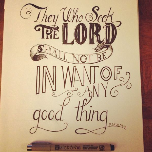 Scripture Hand Lettering by chris wright, via Behance