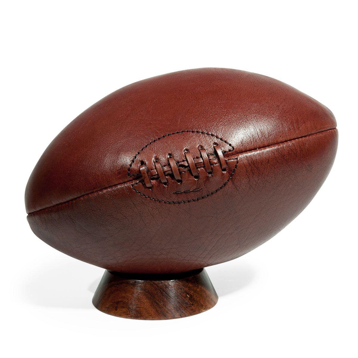 Ballon de rugby vintage r f 130246 dimensions cm h 31 x l 18 poids 1 k - Ballon rugby vintage ...