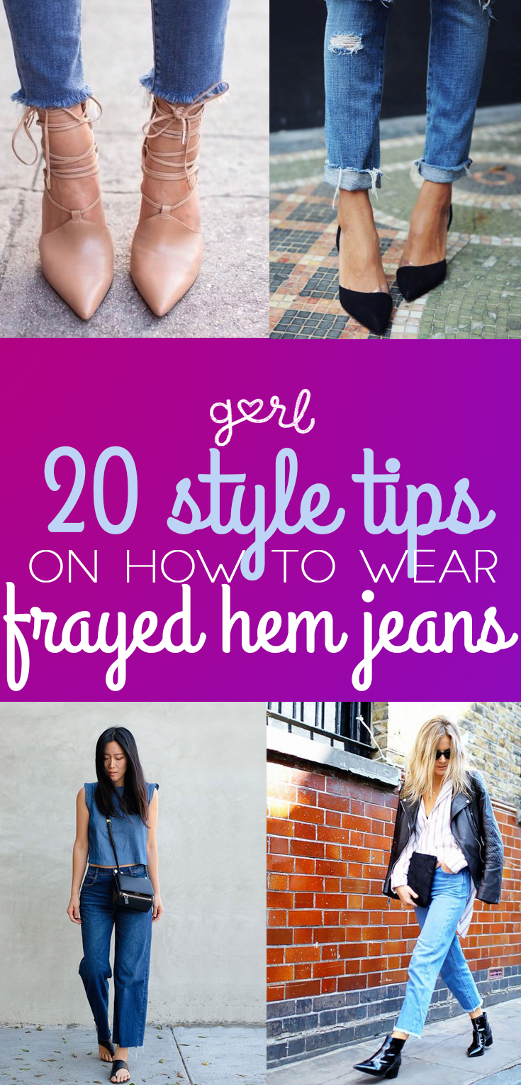 20 Style Tips On How To Wear Frayed Hem Jeans -9125