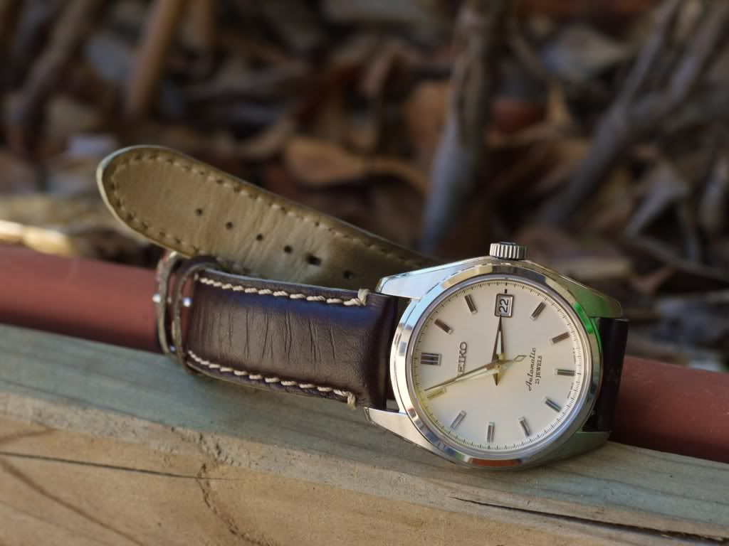 Sarb035 Brown Leather Strap Watches In 2019 Seiko Sarb