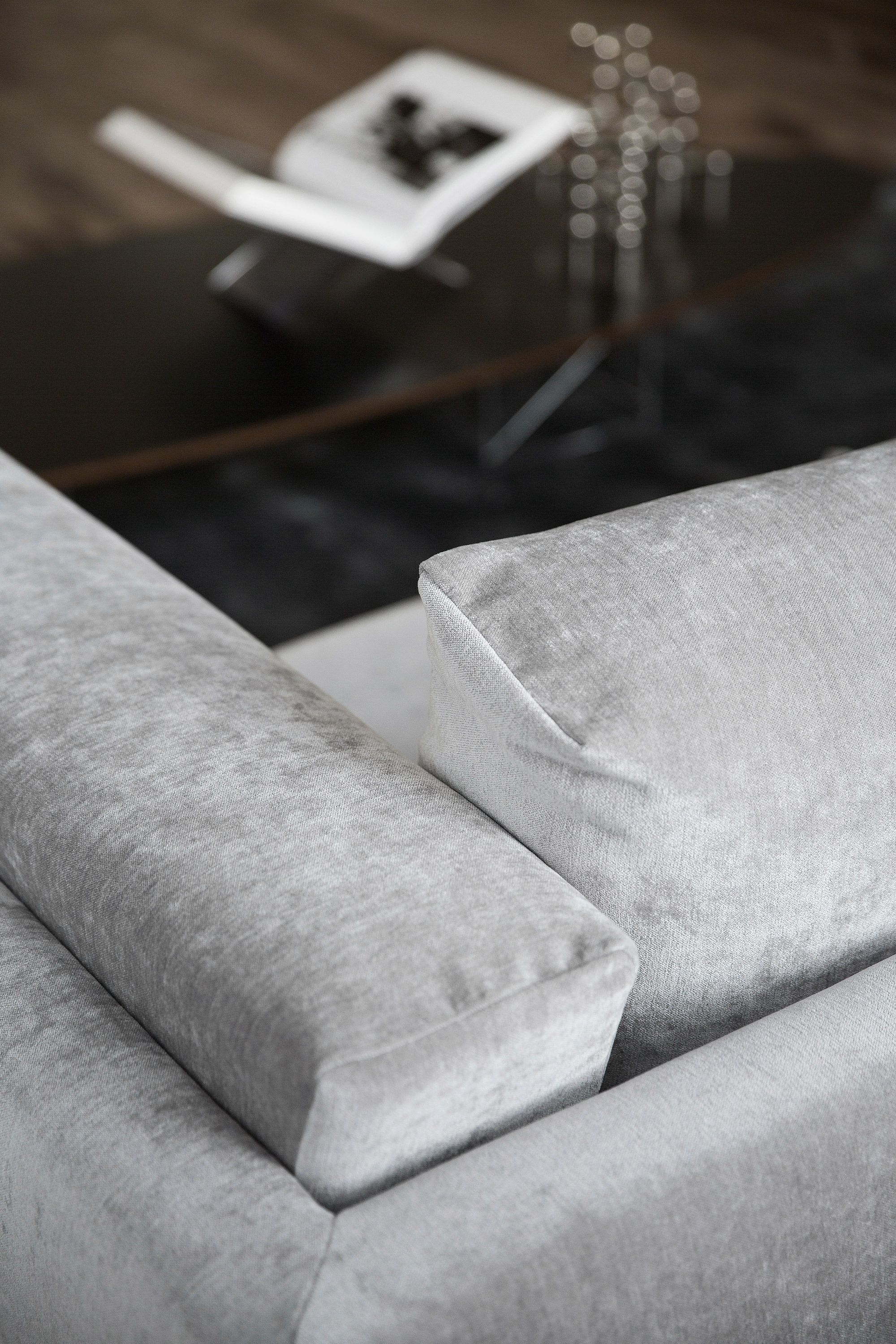 Modern Art Deco Vibes With A Grey Velvet Sofa As Part Of Our Sustainability Campaign An Old Ikea Nockeby Was Given A Contempora Sofa Covers Sofa Nockeby Sofa