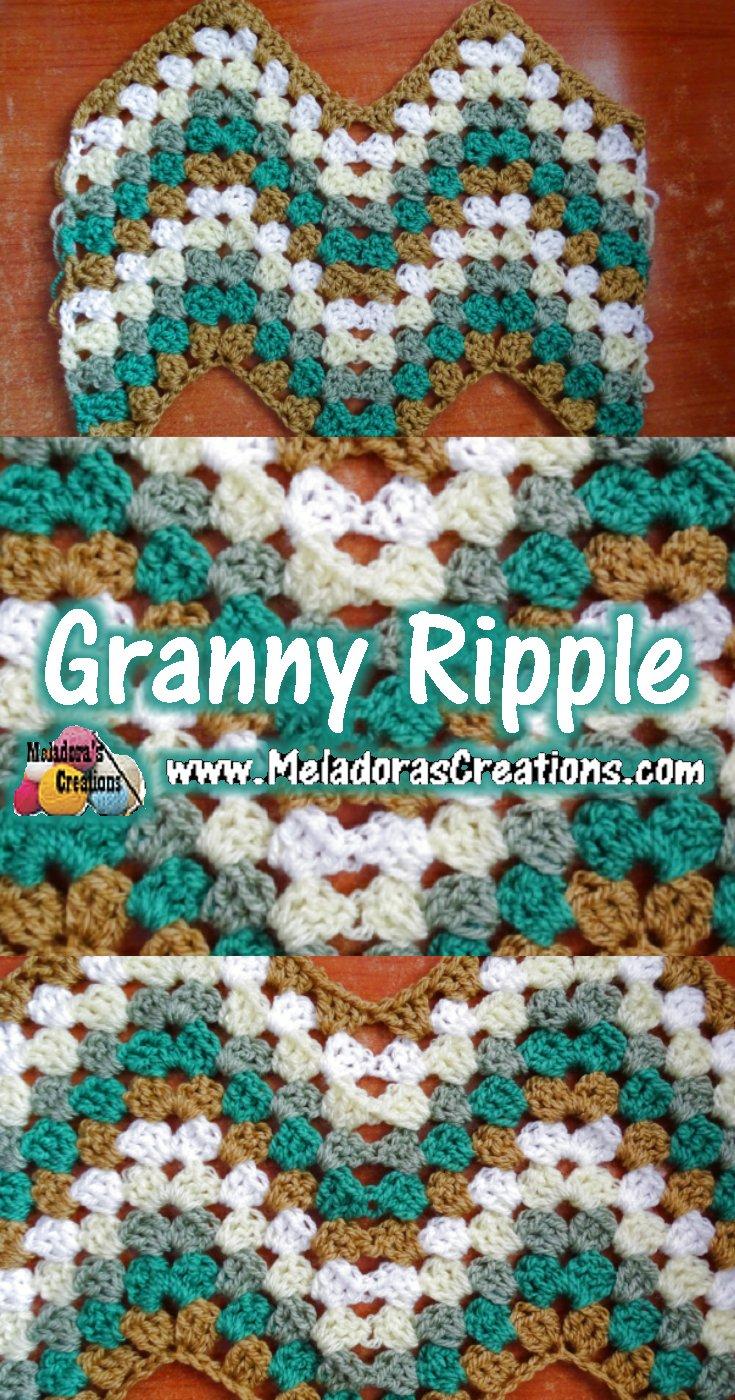 Granny Ripple Crochet Stitch - Free Crochet Pattern and Tutorial - Meladora's Creations