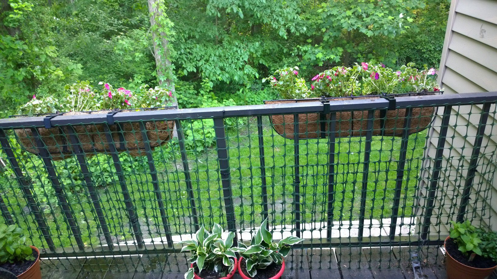 If Your Balcony Railing Has Slats That Are Too Wide Add Plastic