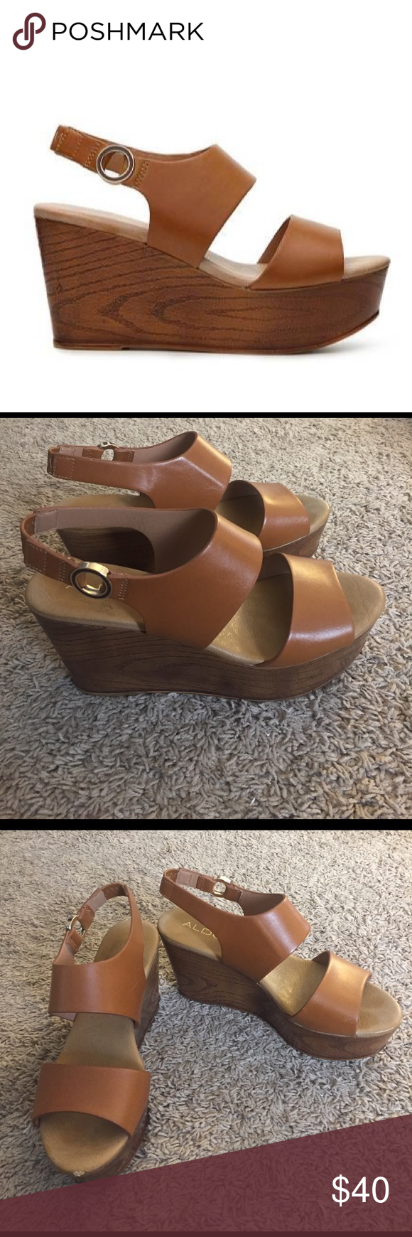 906a06c2ab0a Aldo Piaclya Wedge Sandal Only worn once