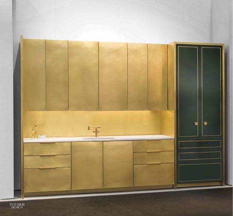 Art Deco Interior Design Kitchen: Amuneal Debuts Brass Kitchen