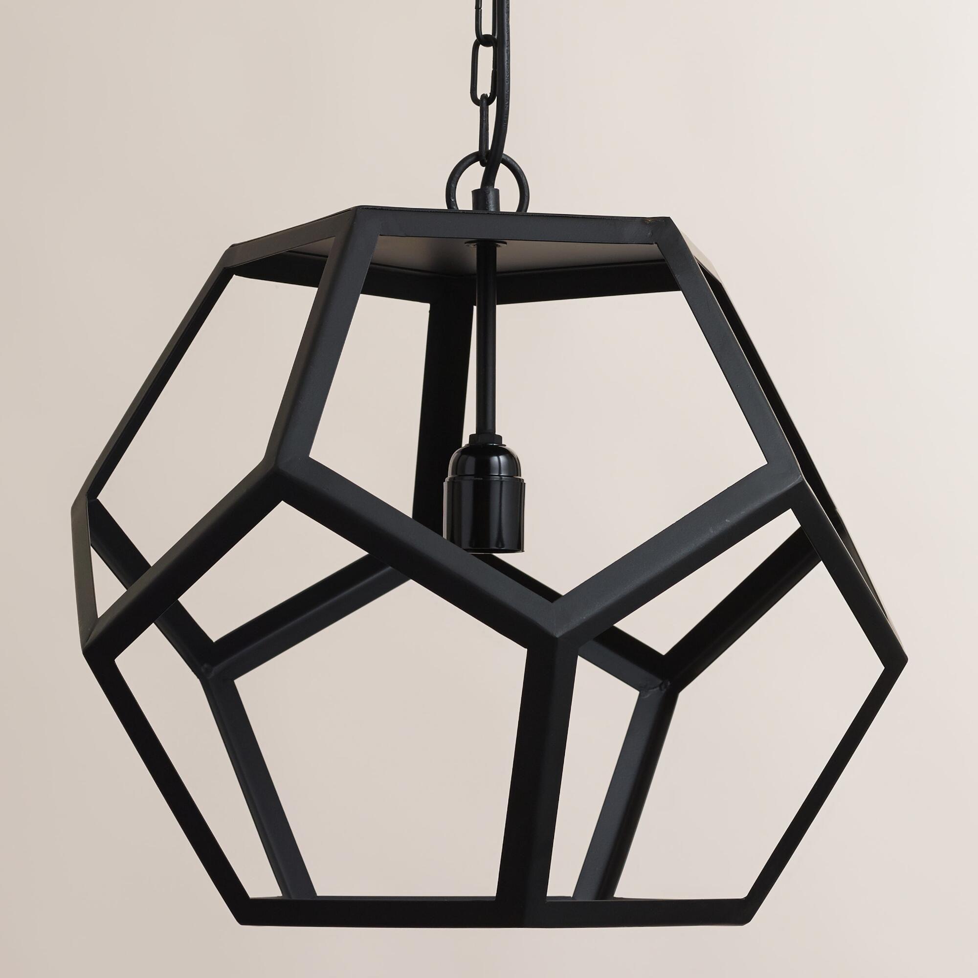 Black Metal Hexagon Pendant Lamp Pendant Lamp Affordable Pendant Lighting Pendant Chandelier