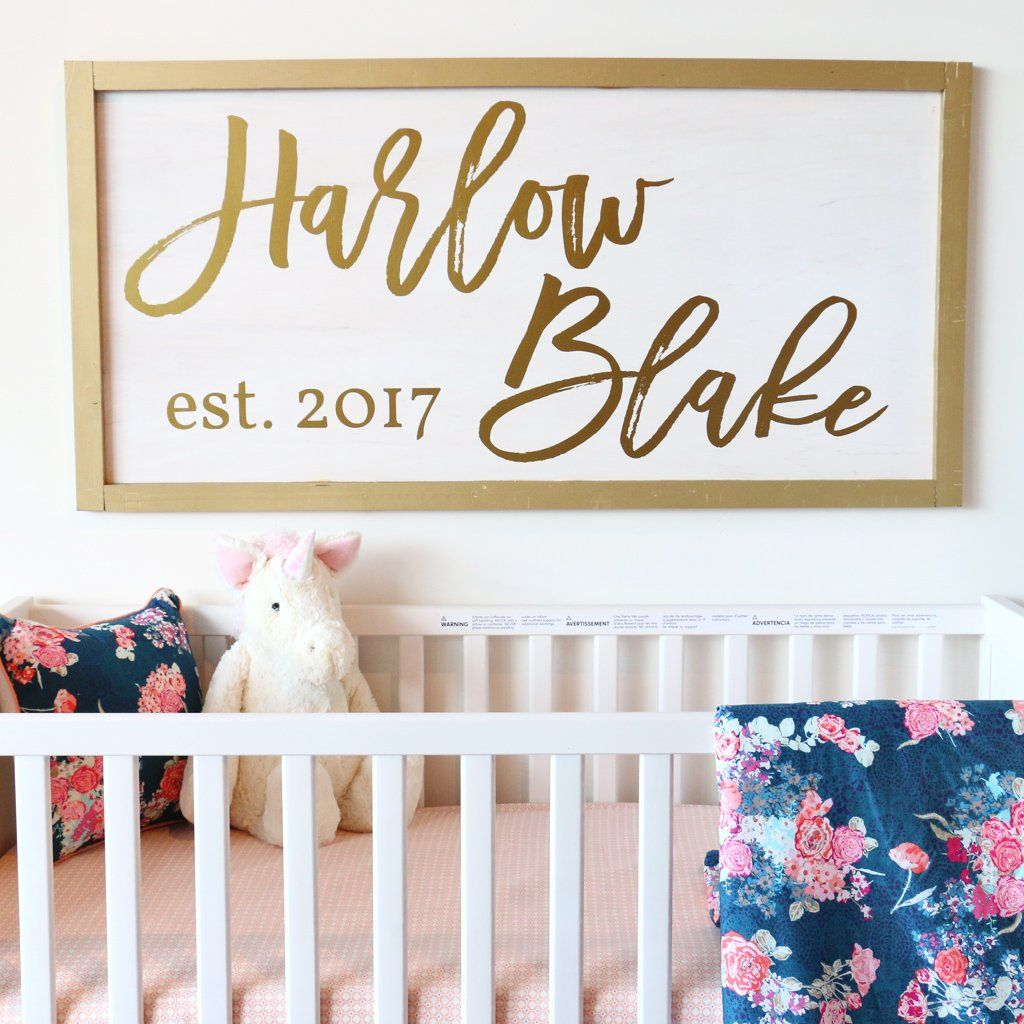 5e8f59e0cdd05 How to Make Your Own Wood Sign for the Nursery | Baby girl nursery ...