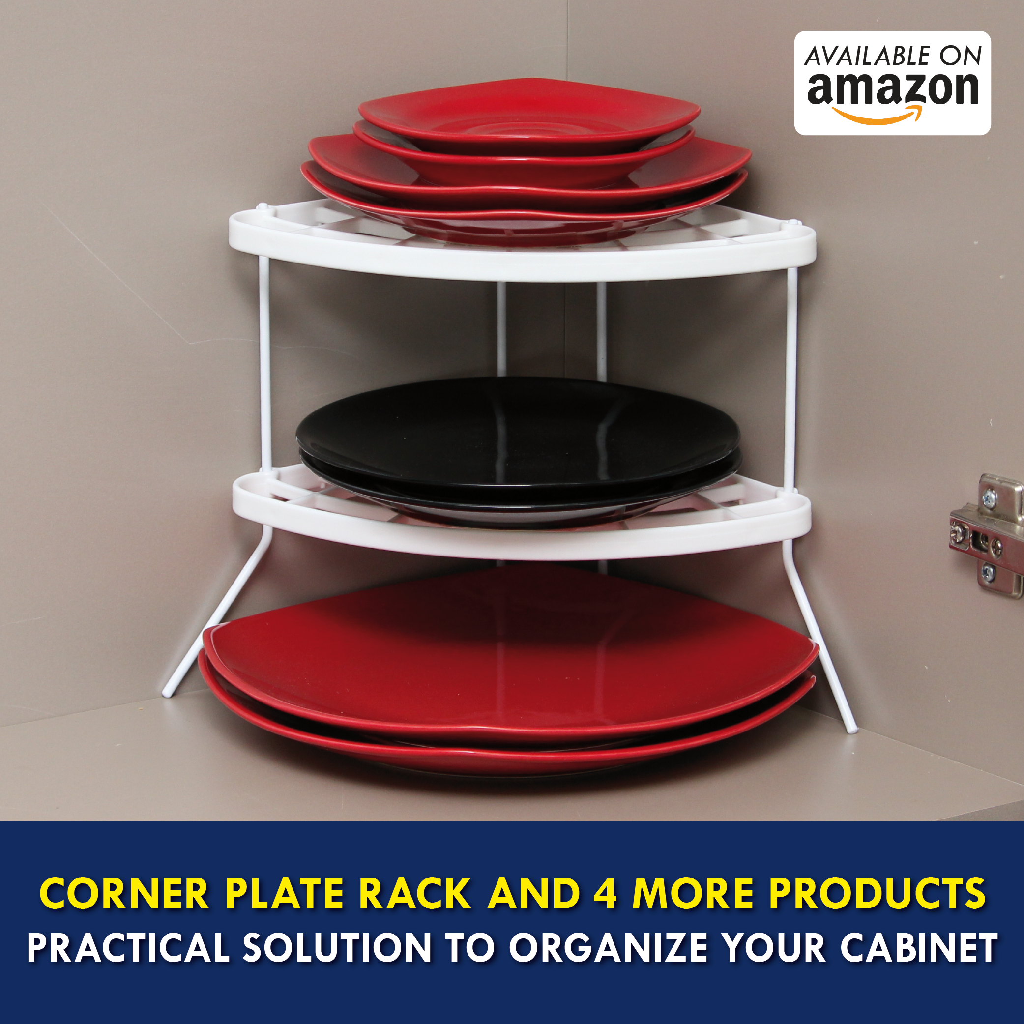 Keep And Find What You Need With More Praticity! Undershelf Placement And  Wrap Holder With · Plate RacksCabinet OrganizersKitchen ...