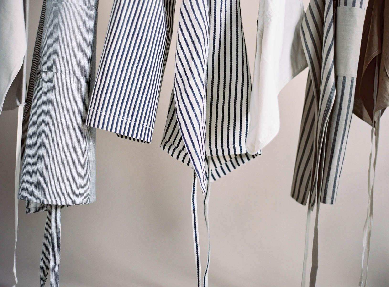 White linen apron - Our Favorite Aprons Kinfolk Fog Linen Work