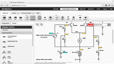 PartSim - Circuit Simulation Made Easy | Useful Software | Pinterest ...