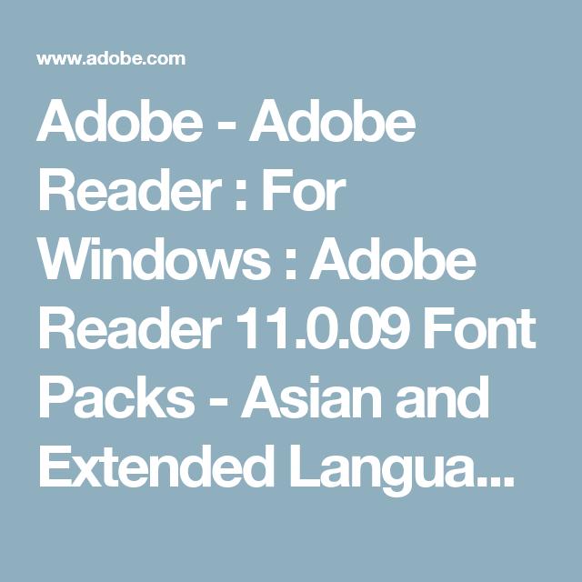 Consider, adobe asian font packs