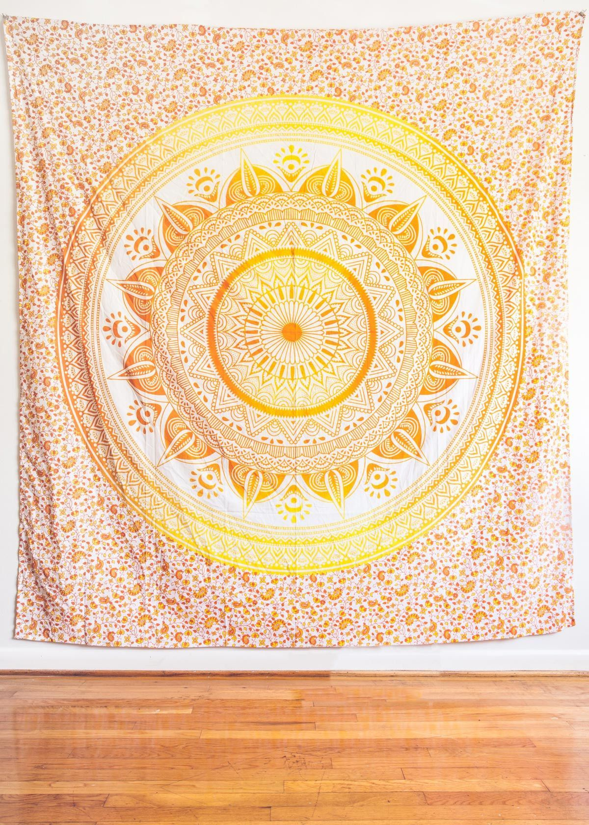 Tangerine Mystic Medallion Tapestry | White fabrics, Tapestry and Walls