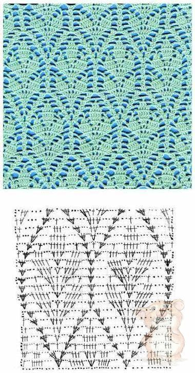 Lacy Leaves Crochet Stitch ⋆ Crochet Kingdom #crochetstitches