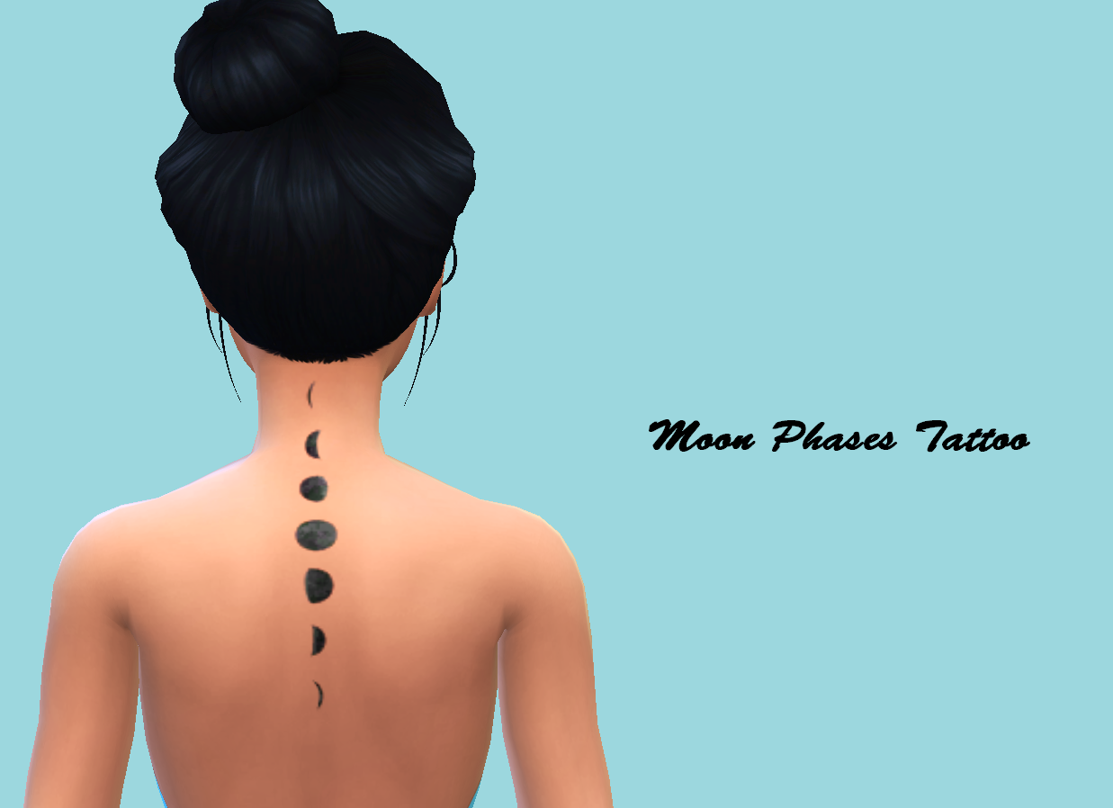 Tattoo  'Moon Phases' #Sims4