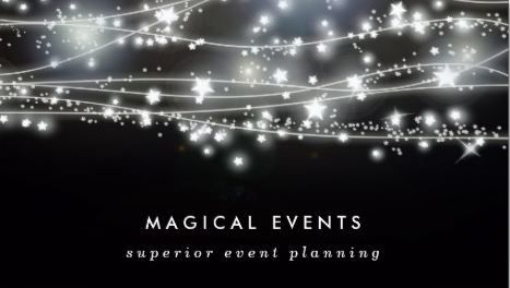 Sparkling stars event planning and entertainment business cards http girly event planning business cards page 1 fbccfo Choice Image