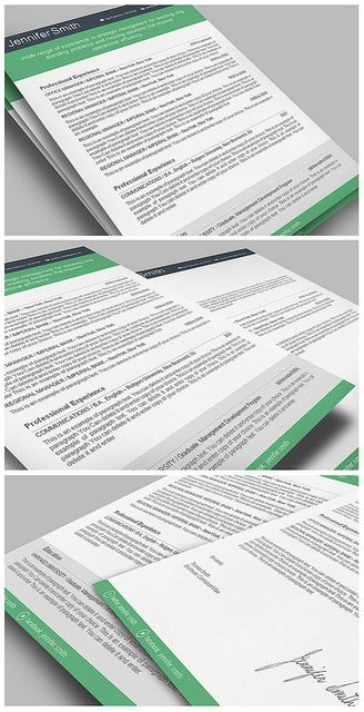 Resume Template - Premium line of Resume \ Cover Letter Templates - pages resume template