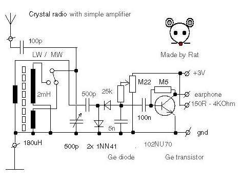 Circuit Diagram | crystal radio 2 | Pinterest | Circuit diagram