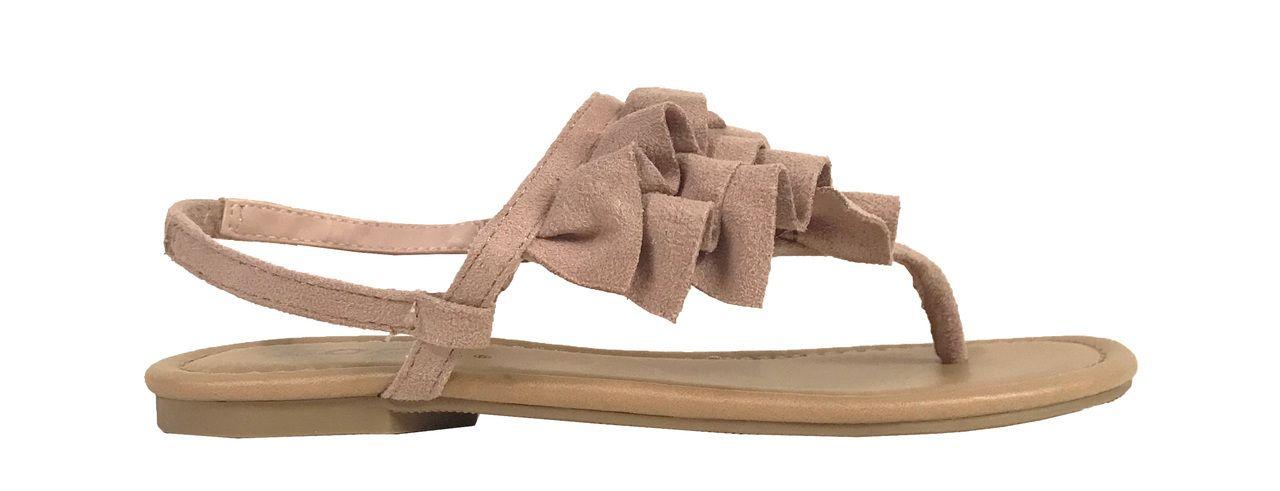 b0157f9a1907 WAWA-2! Girl s Ruffle Thong Slingback Sandals