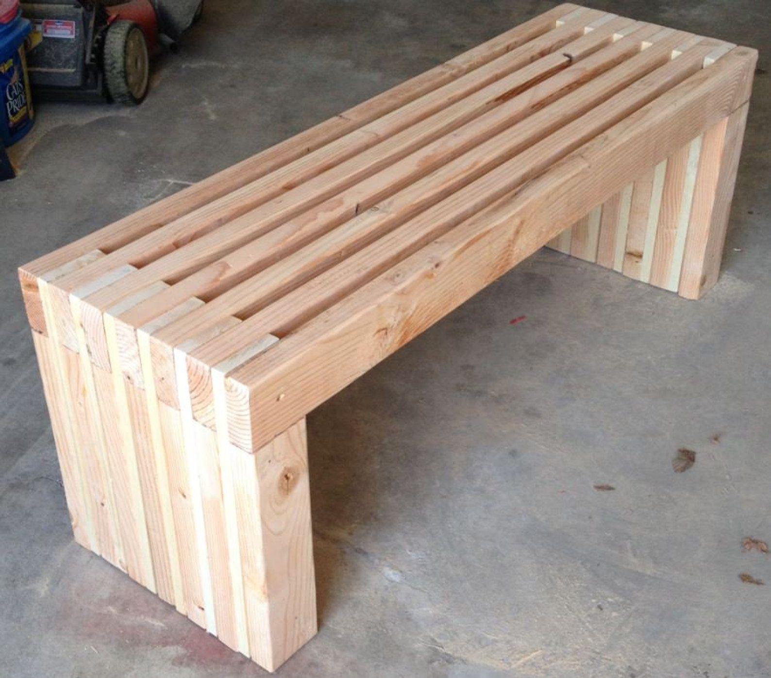 PLANS for 72 long Park Bench DIY 2x4 wood design Patio