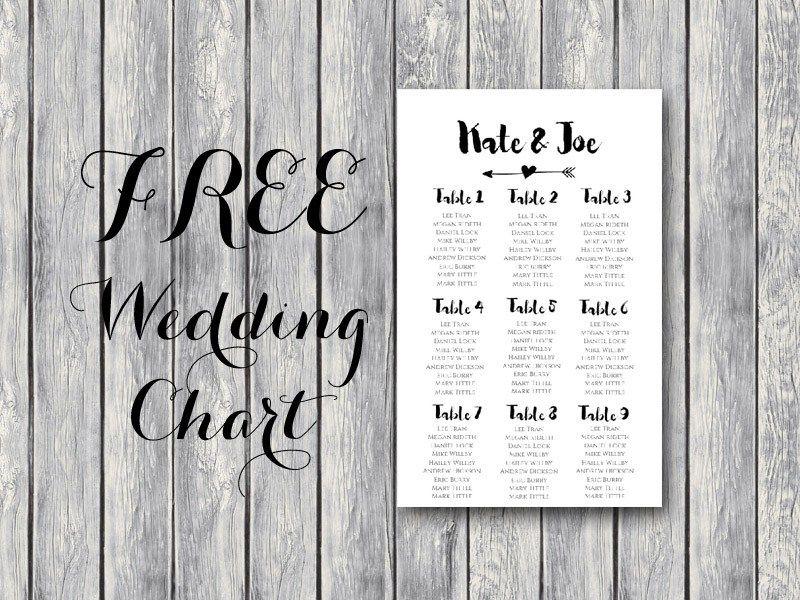 Free Wedding Seating Chart Bride Bows Seating Chart Wedding Template Wedding Seating Plan Template Seating Chart Template