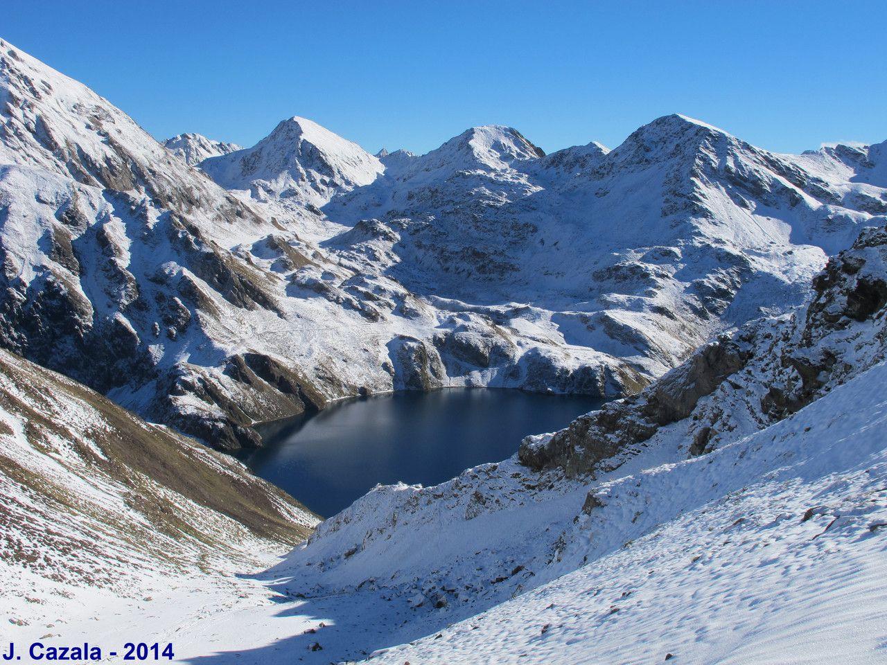 Itineraire De Randonnee Lac Bleu En Circuit Depuis Le Chiroulet Randonnee Lac Itineraire