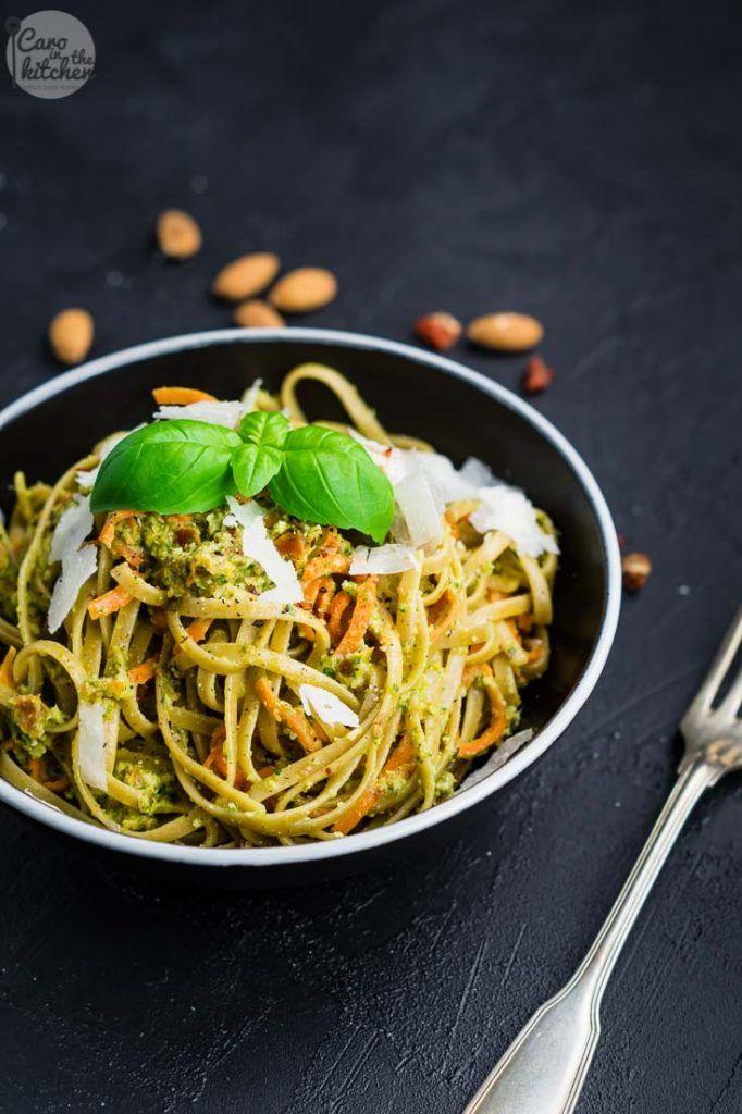 Pasta Mit Möhren In Mandel Pesto Sauce Rezept In 2019 Recipes