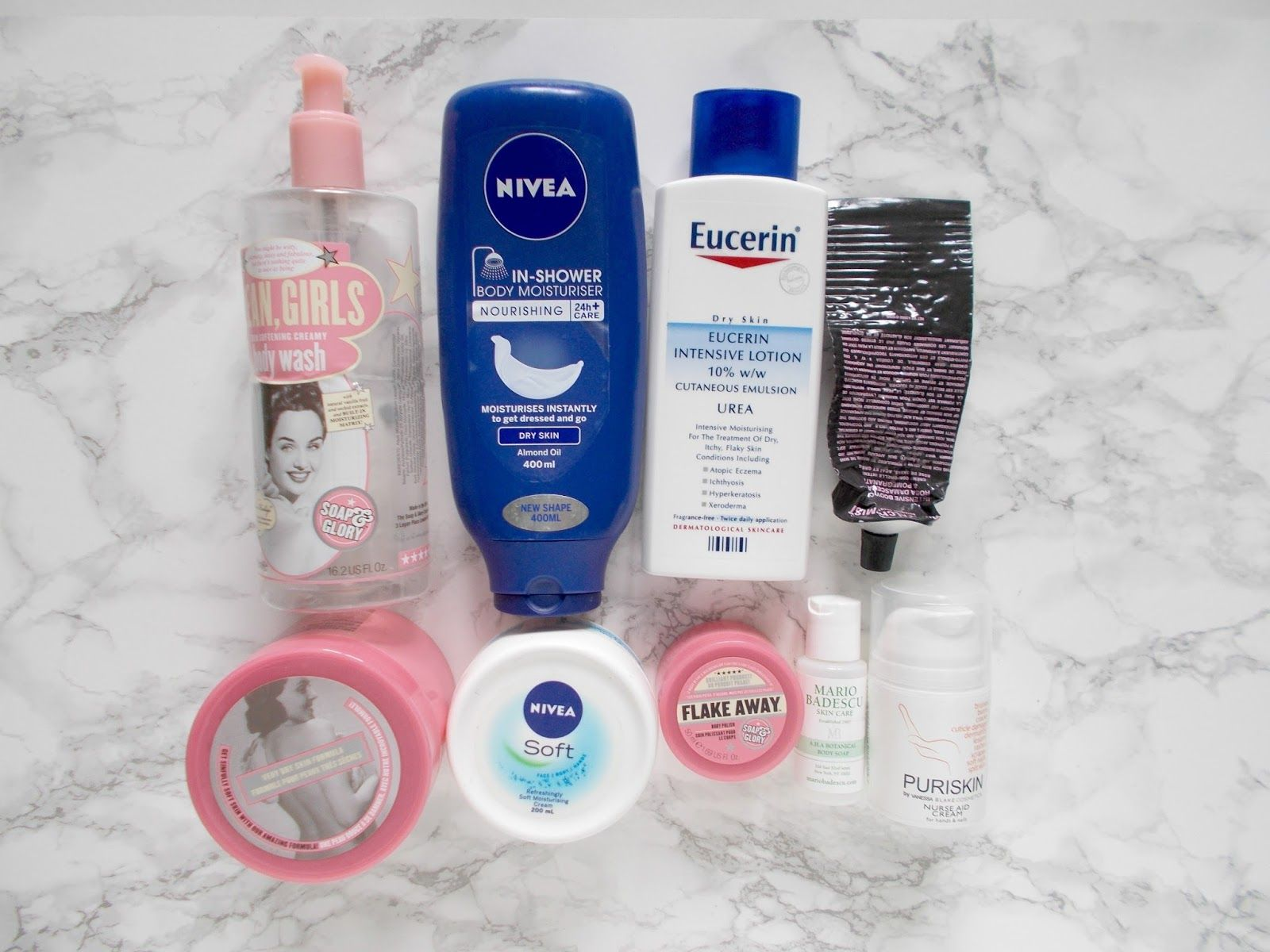 skincare empties reviews soap and glory nivea Soap and