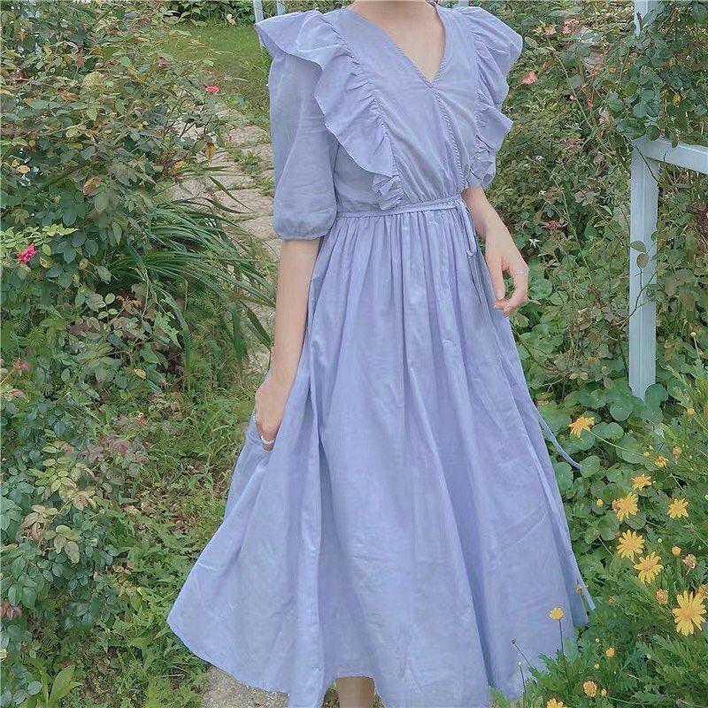 Vintage dress Aesthetic Cottagecore Clothing Dress  Goddess dress