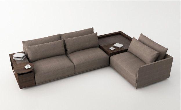 Natuzzi Long Beach 3 Rendering 1 Corner Sofa Design Wooden Sofa Designs Living Room Sofa Design