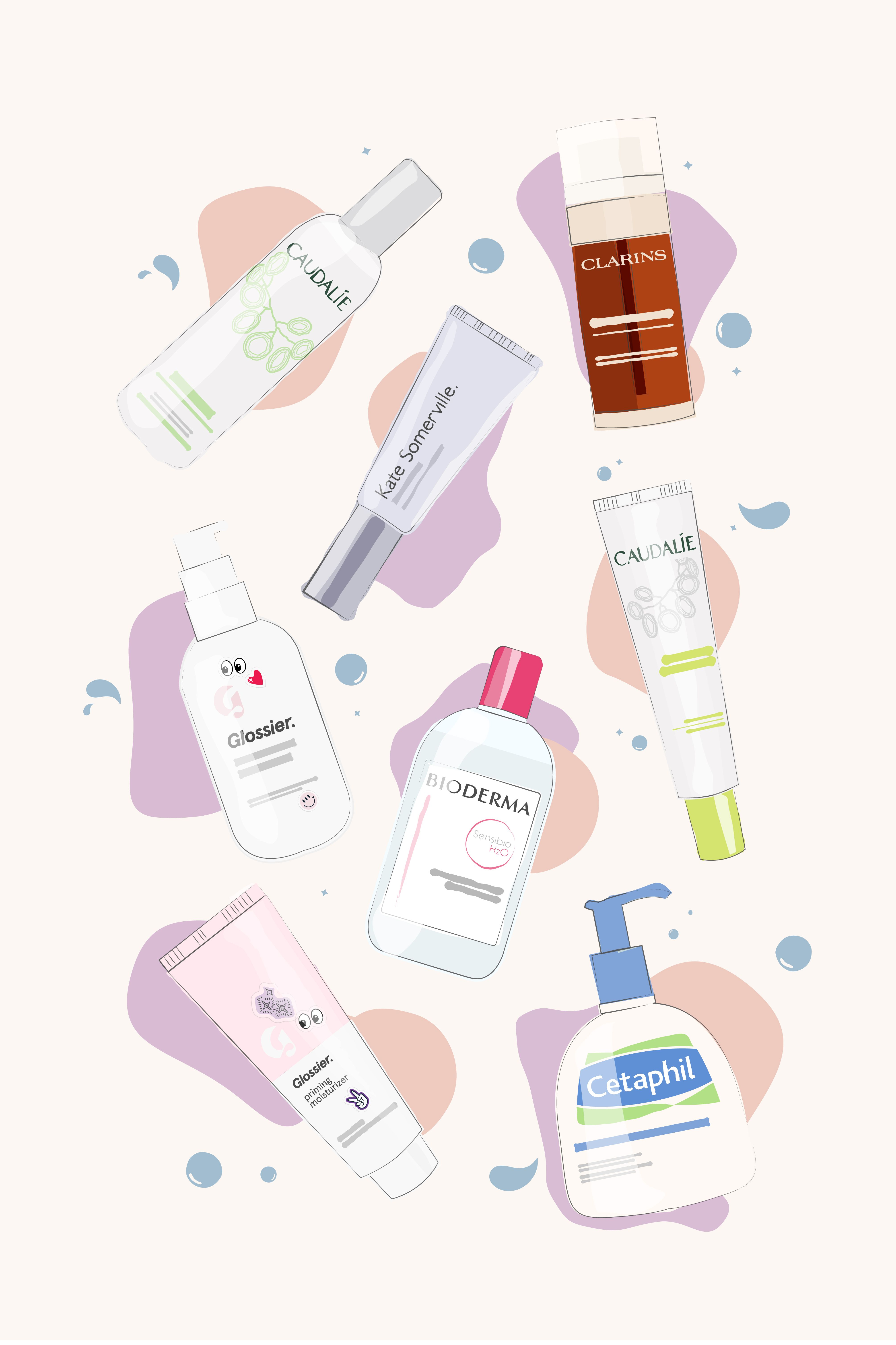 Illustrated Skincare Cosmetics Illustration Makeup Illustration Celebrity Skin Care