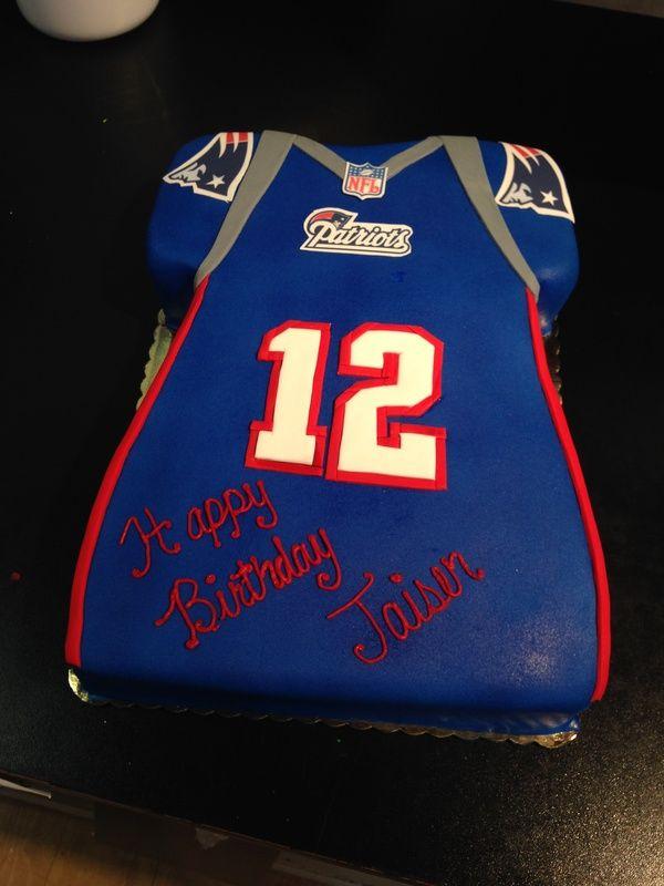 Tom Brady Jersey Cake Patriots Tombrady Patriotscake