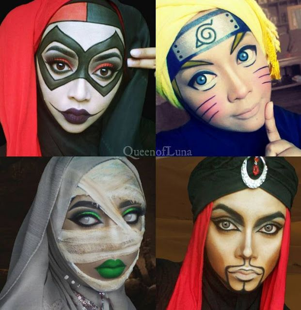 Muslim Makeup Artist Transforms Herself Into Disney And Comic Book - Makeup artist uses hijab to transform herself into disney characters