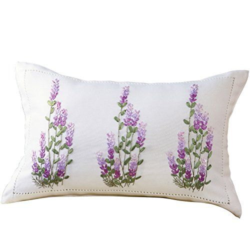 Lavender Ribbon Decorative Throw Pillow Collections Etc…