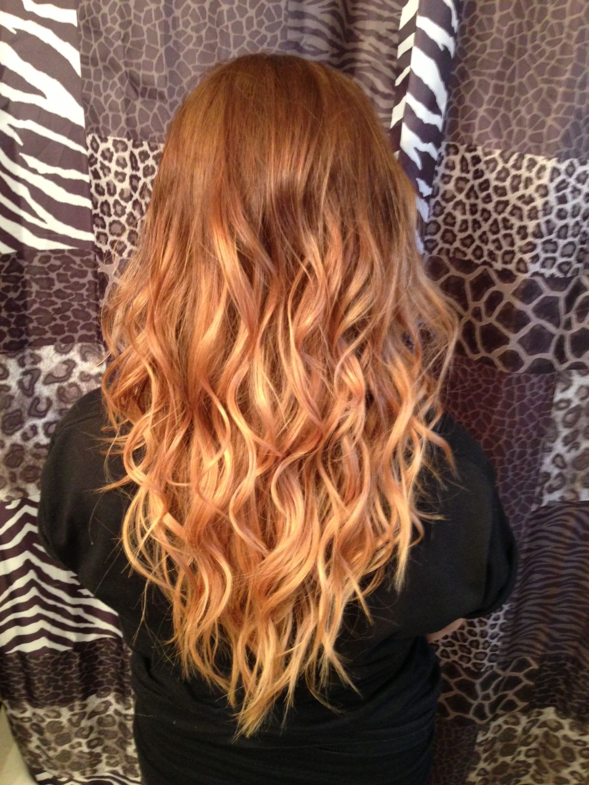 Golden Dark Blonde Roots With Two Tone Blonde Ombre Done At Glam