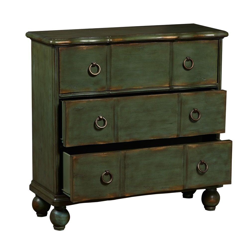 Best Hand Painted Distressed Blue Green Accent Chest Accent 640 x 480