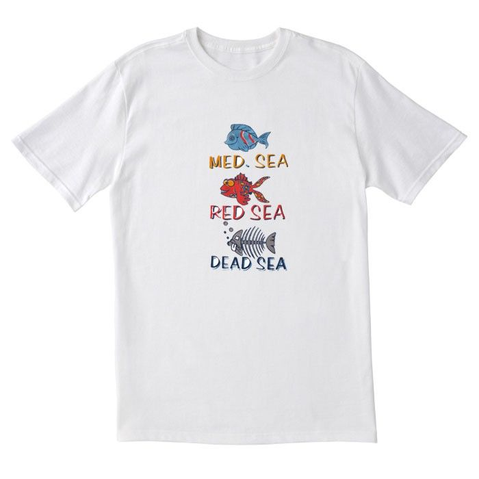 b197ef831 Med. Sea, Red Sea, Dead Sea T-Shirt - Adult Size | Israel T-shirts ...