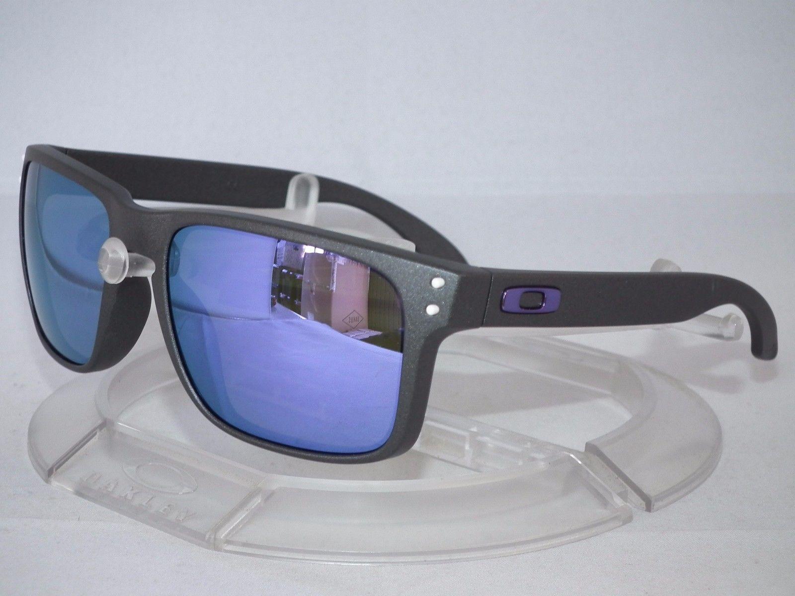 oakley sunglasses oo9102 holbrook ulyg  CUSTOM OAKLEY HOLBROOK Sunglasses OO9102 Steel Grey / Violet Iridium