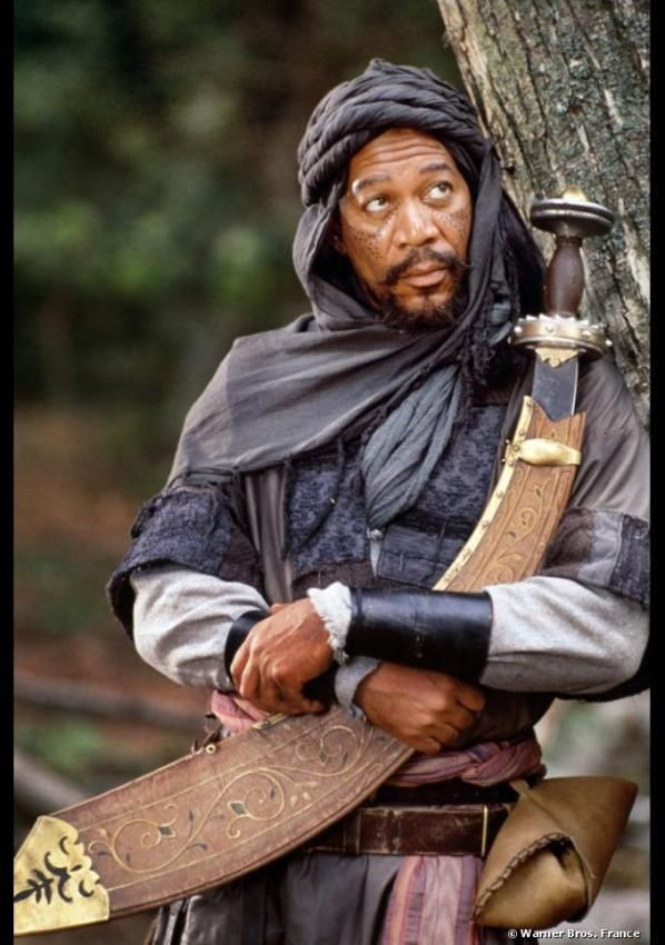 First movie I saw with Morgan Freeman - Robin des Bois, prince des voleurs (1991). He's one of my fav actors.