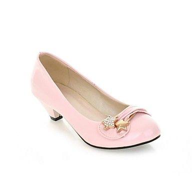 Donna scarpe Pelleette Summer Fall Kitten Heel With Rhinestone