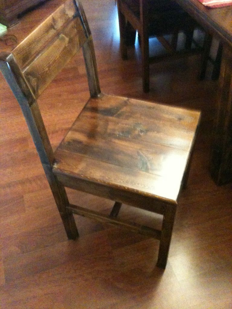 Farmhouse table chairs 2x4 furniture pinterest for 2x4 farm table