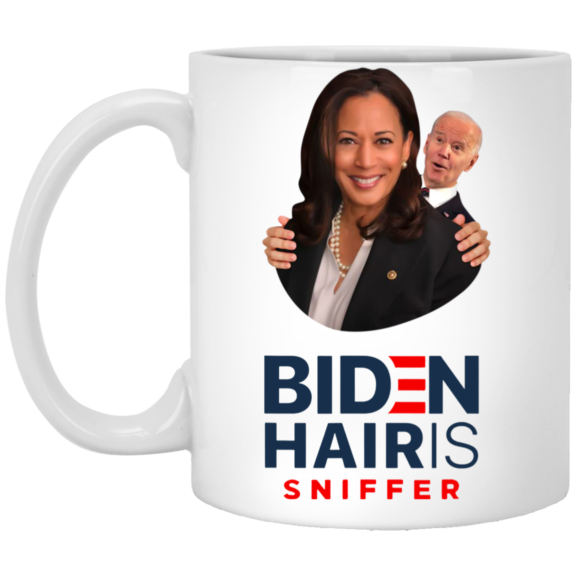 Biden Hairis Sniffer Mug Funny Biden Coffee Mug Cute Kamala Harris Campaign Parody Mug Printing Mugs Coffee Mugs
