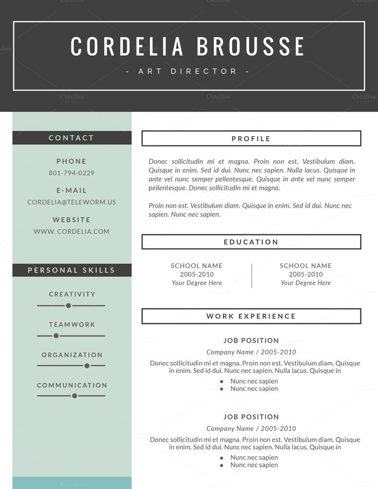 Resume Template  Pages Cv Template By This Paper Fox On Creative